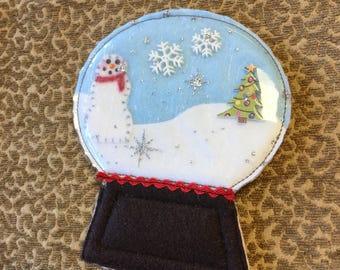 Adorable Handmade Snow Globe Ornament