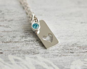 Valentines Gift for Wife, Valentines Gift For Girlfriend, Anniversary Necklace for Wife, Heart Necklace, Layering Necklace,Birthday Wife