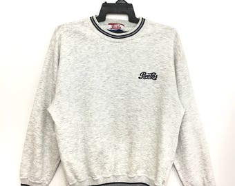 Sale!! Vintage 90s PEPSI COLA Sweatshirt Pullover Embroidery Logo Medium Size