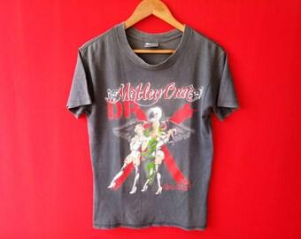 vintage motley crue metal band music medium mens t shirt