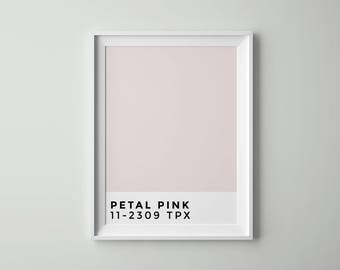 Petal Pink | Pantone | Fashion | Wall Art Printable | Scandinavian Decor | Tumblr Room Decor | Vertical Poster | Digital files | Artwork