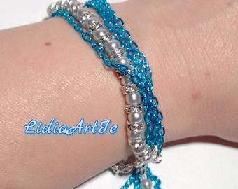 New fashion bracelet,blue and silver bracelet,trendy bracelet,bransoletka,pulsera