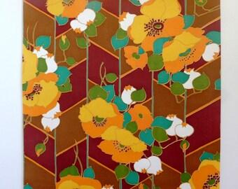 Retro wallpaper, wallpaper, paper flowers