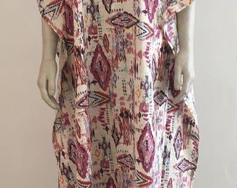 Cotton Kaftan Maxi dress. Beach cover-up