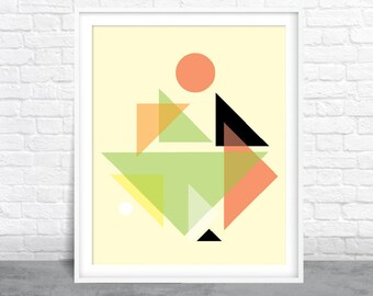 Abstract Art, Geometric Design, Shapes Art, Mid-Century Modern