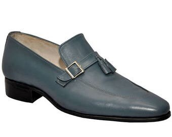 ON SUMMER SALE Weber Handmade Tassels Style Formal Shoes With Monk Strap.