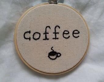 Embroidery Hoop- Coffee