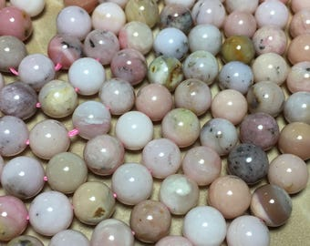 8mm Full Strand Pink Opal Gemstone Round 8mm Loose Beads 15.5 inch Full Strand, Pink Opal Beads, Genuine Pink Opal Beads
