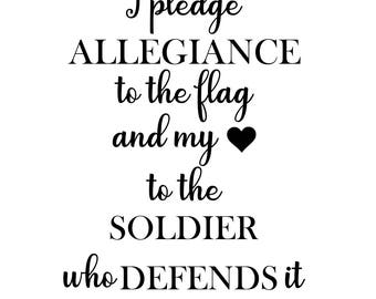 I pledge to my Soldier SVG