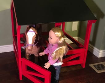 """18"""" Doll Horse Stable"""