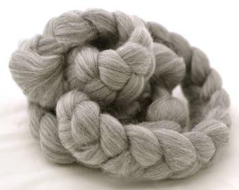 4oz Natural grey Merino wool roving