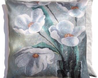 "Pillowcase from the ""Sunny Mood"" series. Author's pillowcase, artist Sergey Lipovtsev: For you. 18""x 18"" (45 х 45) cm."