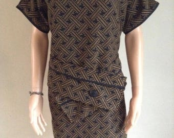 Dress straight tunic 46/48/50 and weaving graphic
