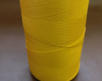 Yellow Ritza 25 waxed Tiger Thread, 1mm for Leather by Julius Koch