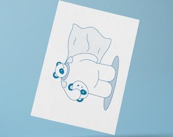 Mascot Bear Print