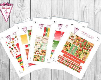 Christmas Joy (vanilla skin tone) - Printable Happy Planner Weekly Kit w/Cut Line