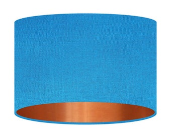 Handmade Lampshade Mirror Copper Lining Fabric Of Your Choice Table Floor Handmade Shade Home Decor Gift Drum Shade Contemporary 20 30 40cm