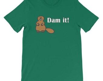 Funny Beaver Dam It Pun T-Shirt