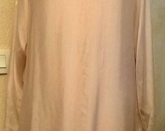 Powder pink silk and cream lace dress