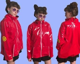 Happy/Sad Red Raincoat