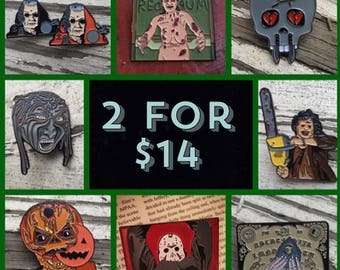 HORROR PINS: 2 for 14