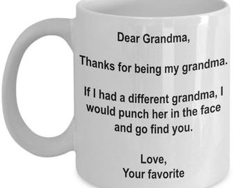 Grandma Gift, Grandma Coffee Mug, Grandma Mug, Gifts for grandma, Best Grandma mug, Best Grandma Gift, Thank you for being My Grandma