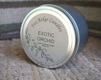 Orchid Soy Candle - Tropical Candle - Handmade Candles - Hand Poured Candles - Soy Candles - All Natural Candles - Floral Candles - Sea Salt