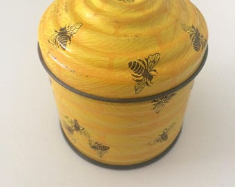 Cute vintage bee hive tin