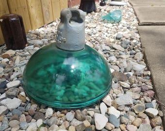 Glass Suspension Insulator Vintage Home and Garden Art Steampunk