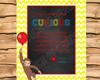Curious George Birthday Signature Sign
