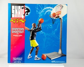 Kenner NBA Shaquille Oneal Shaq Attaq Downtown Shootout Action Figure Playset