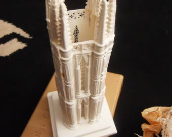 """vintage wedding hand made cake topper church steeple 7"""" by 3"""" new"""