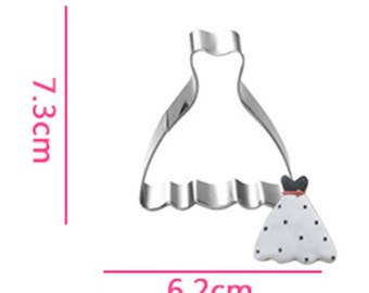 Strapless Dress Cookie Cutter- Fondant Biscuit Mold - Pastry Baking Tool Set