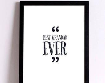 Best grandad ever print