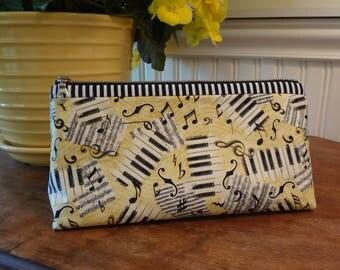 Music Zipper Cosmetic Bag