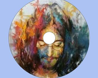 Custom Made Music Clocks from CD/DVD - John Lennon! Free Shipping!