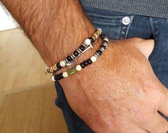 Men's Howlite bracelet