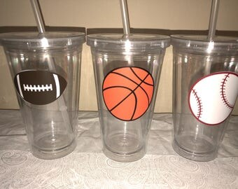 PARTY FAVOR LARGE Quantity List tumblers cups  sports or emoji style