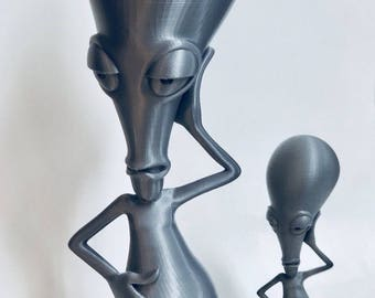 3D Printed Roger Alien from American Dad