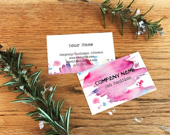 Double Sided Water Colour Business Card -  Printed