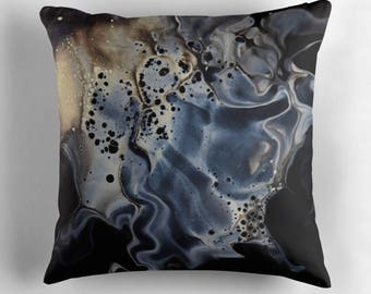 Original Art Print Throw Cushion. Pre Order, Custom Order. White Night.