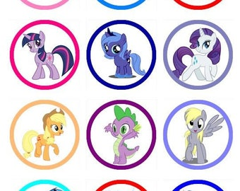 My Little Pony Edible Image Cupcake/Cookie Toppers
