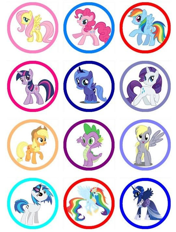 My Little Pony Edible Image Cupcake Cookie Toppers
