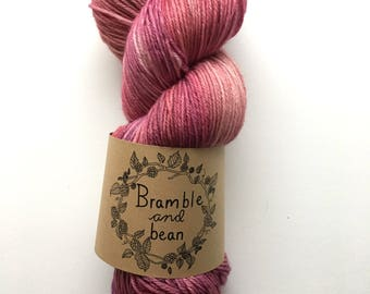 Hand Dyed Sock Yarn, Superwash Merino Wool - Azalea (Ready to ship)