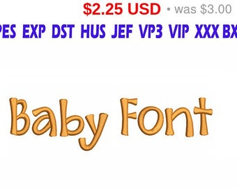 SALE 25% Baby Font Embroidery/ Baby Font embroidery design/ INSTANT download