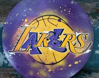 custom graffiti style vinyl record los angeles lakers