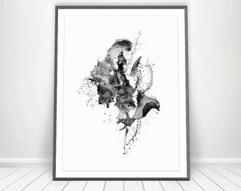 Abstract Giclee Print * Abstract Wall Art Living Room Decor Art Abstract Print Giclee Art Print Minimalist Painting Black and White Art