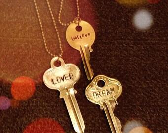 Vintage Keys with wistful words