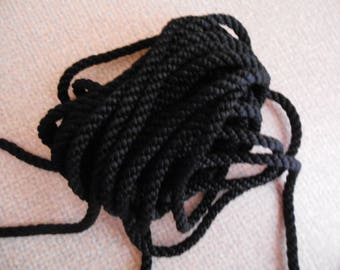 10 mm braided black cord
