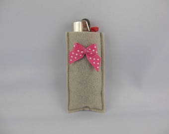 Felt lighter case decorate and colorful